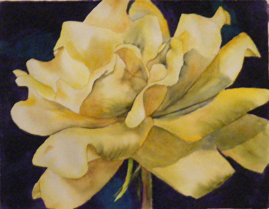Watercolor Painting - Yellow Rose 103 by Diane Ziemski