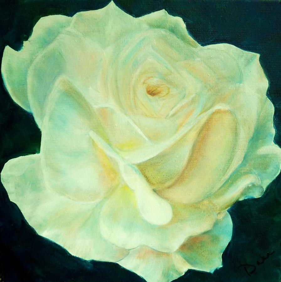 Rose Painting - Yellow Rose 2 by Dana Redfern