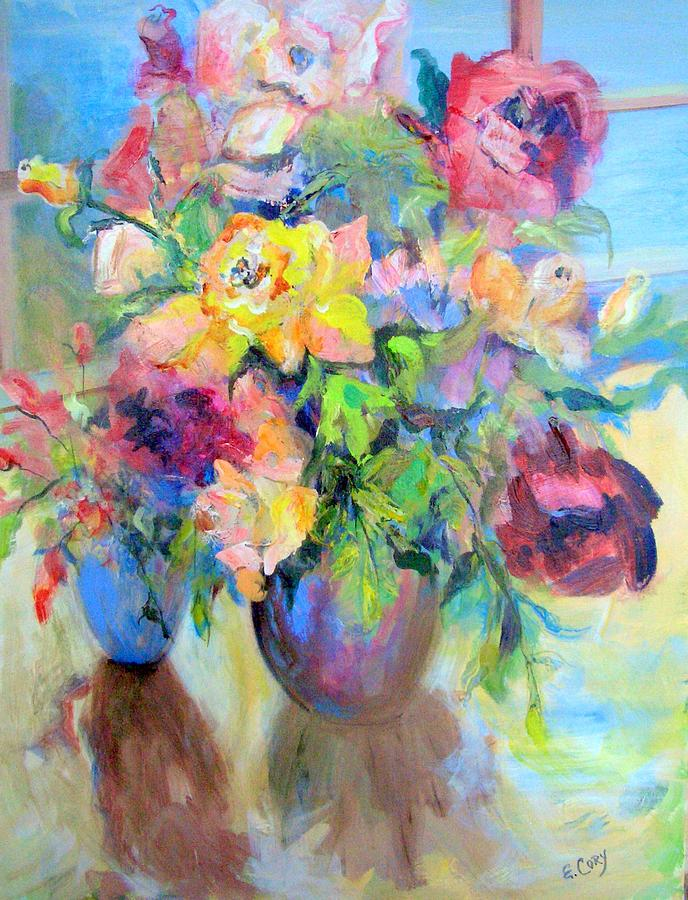 Floral Painting - Yellow Rose by Elaine Cory