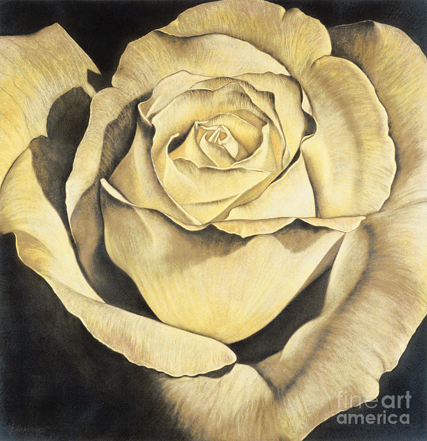 Lawrence Supino Painting - Yellow Rose by Lawrence Supino