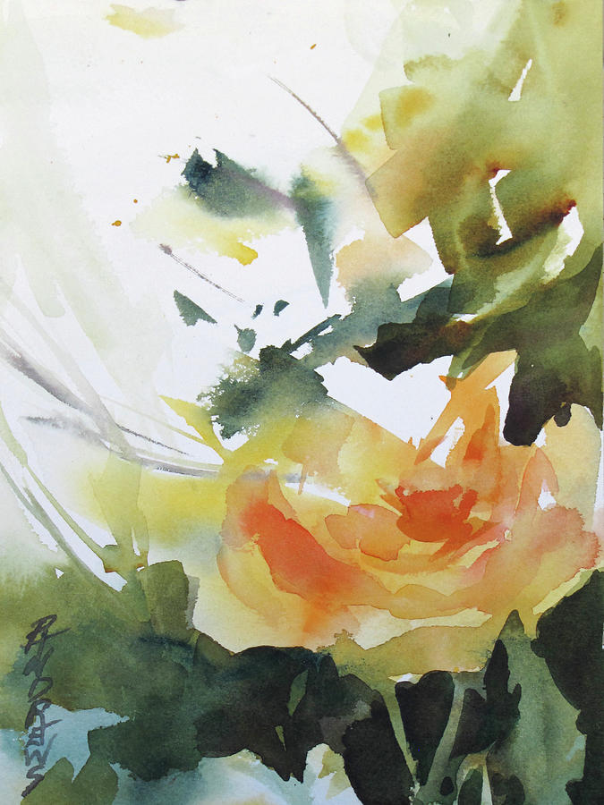 Flower Painting - Yellow Rose by Rae Andrews