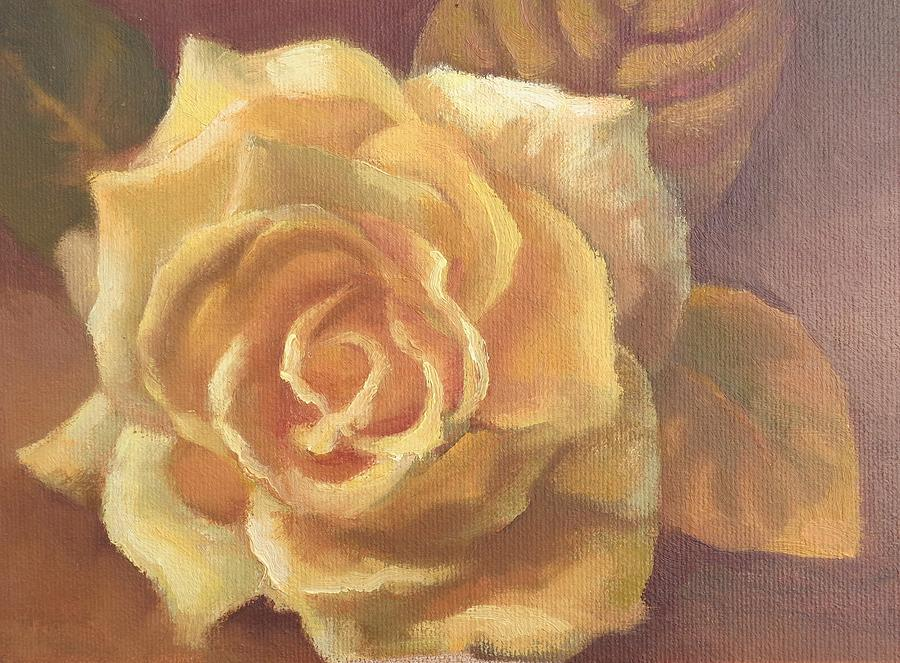Flower Painting - Yellow Rose by Sharon Weaver