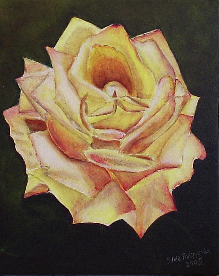 Rose Painting - Yellow Rose by Silvia Philippsohn