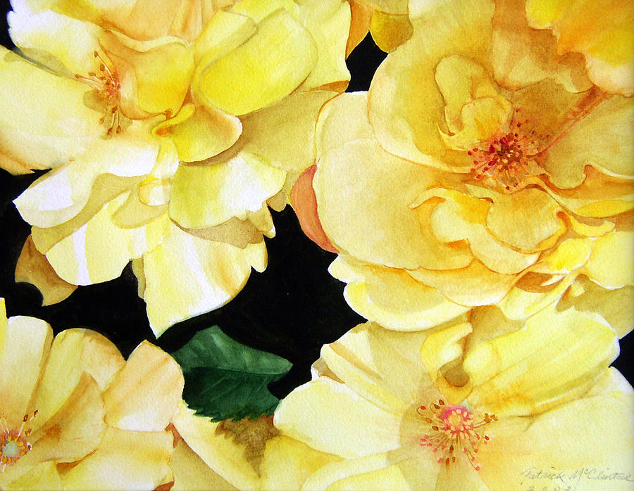 Yellow Roses Painting by Patrick McClintock