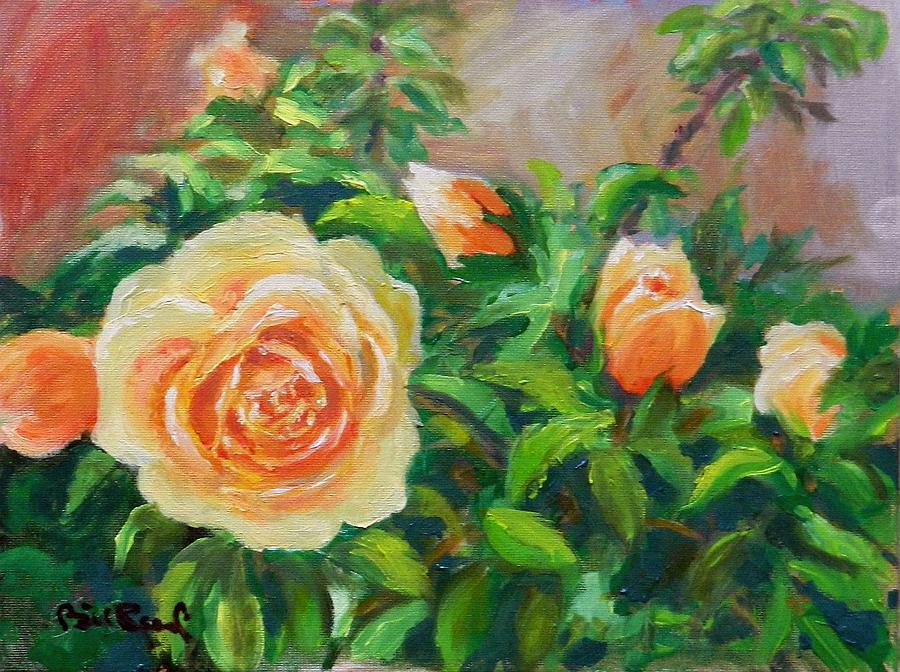 Roses Painting - Yellow Roses by William Reed