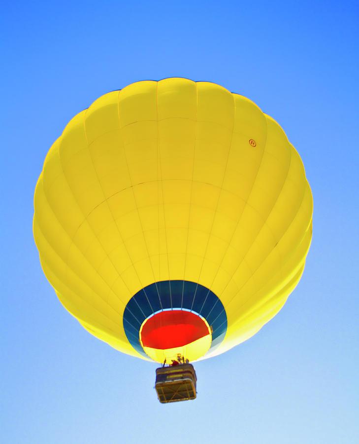Hot Air Ballons Photograph - Yellow Sky by Arthur Bohlmann