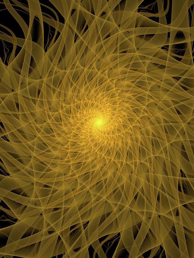 Yellow Spiral Digital Art