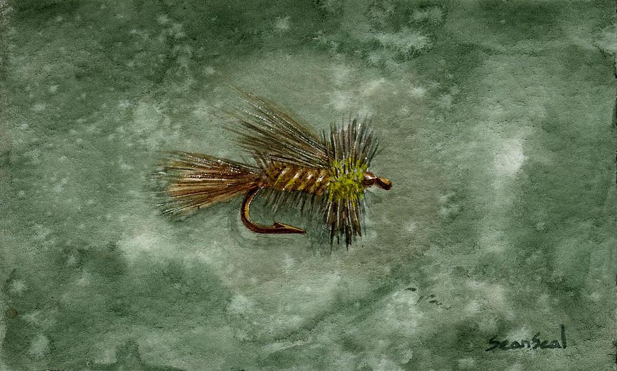 Fishing Painting - Yellow Stimulator by Sean Seal