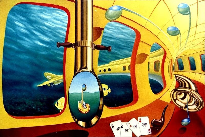 Yellow Submarine Painting by Gyuri Lohmuller