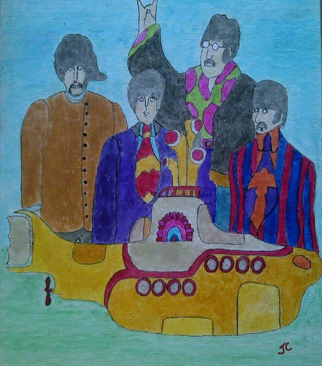 Beatles Painting - Yellow Submarine by John Cunnane