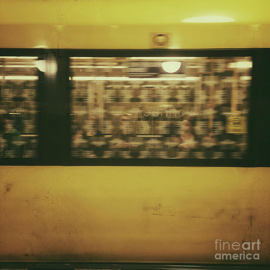 Yellow subway Train by Ivy Ho