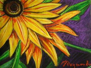 Yellow Sunset Painting by Yasemin Raymondo