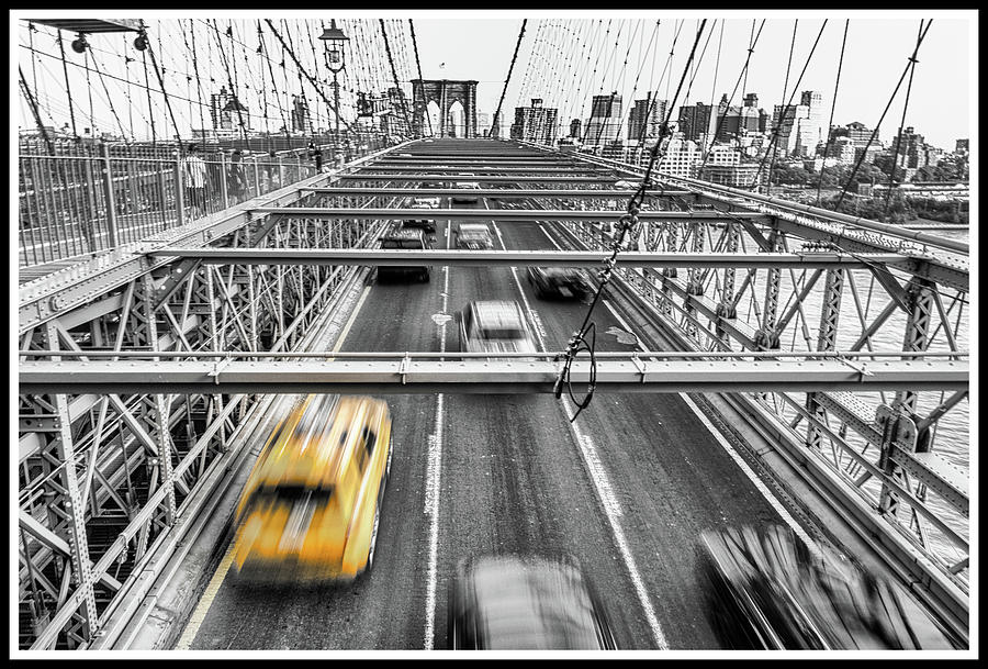 Cities Photograph - Yellow Taxi by Tiziano Betti