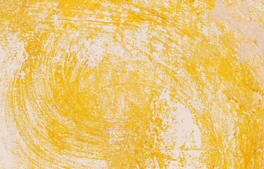 Yellow Textured Wall Background Photograph by Michalakis Ppalis