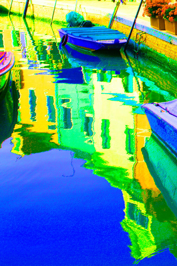 Yellow Digital Art - Yellow Toned Reflections by Donna Corless