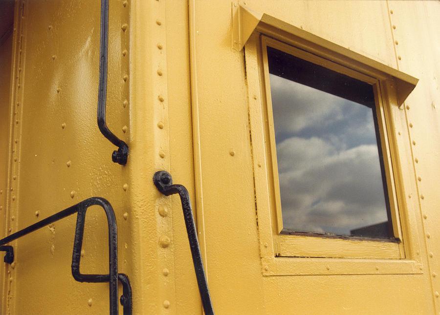 Train Photograph - Yellow Train Car by Maureen Chase