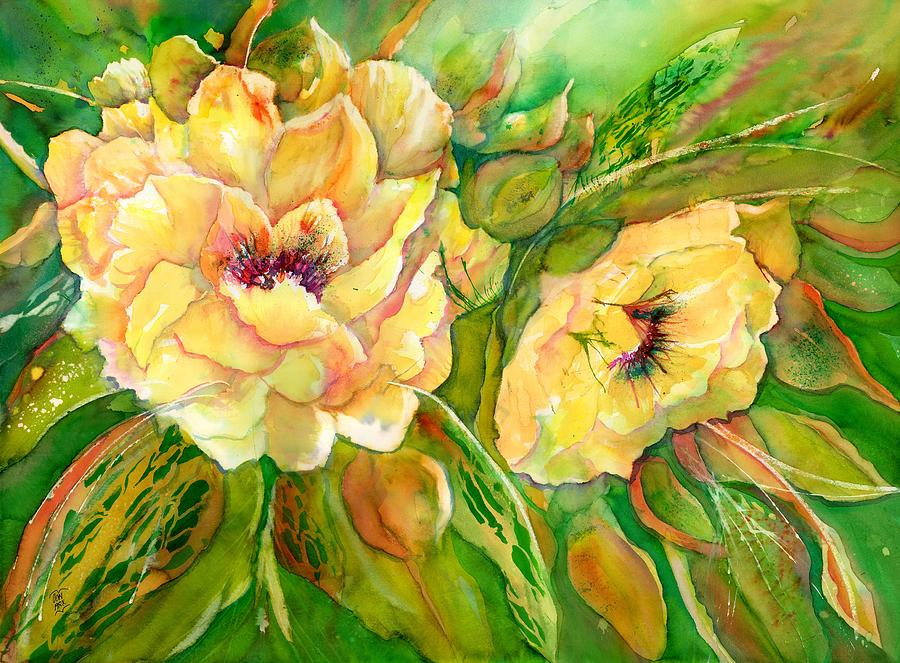 Yellow Peony Flowers by Sabina Von Arx