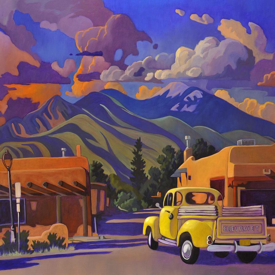 Yellow Truck Square by Art West