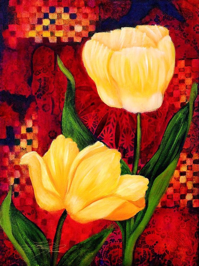 Tulip Painting - Yellow Tulips by Lynn Lawson Pajunen