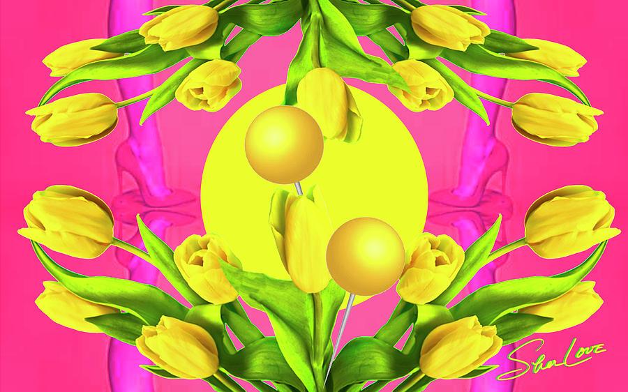 Yellow Tuplis Digital Art