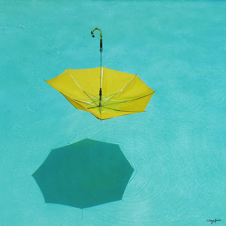 Umbrella Photograph - Yellow Umbrella by Craig Gum