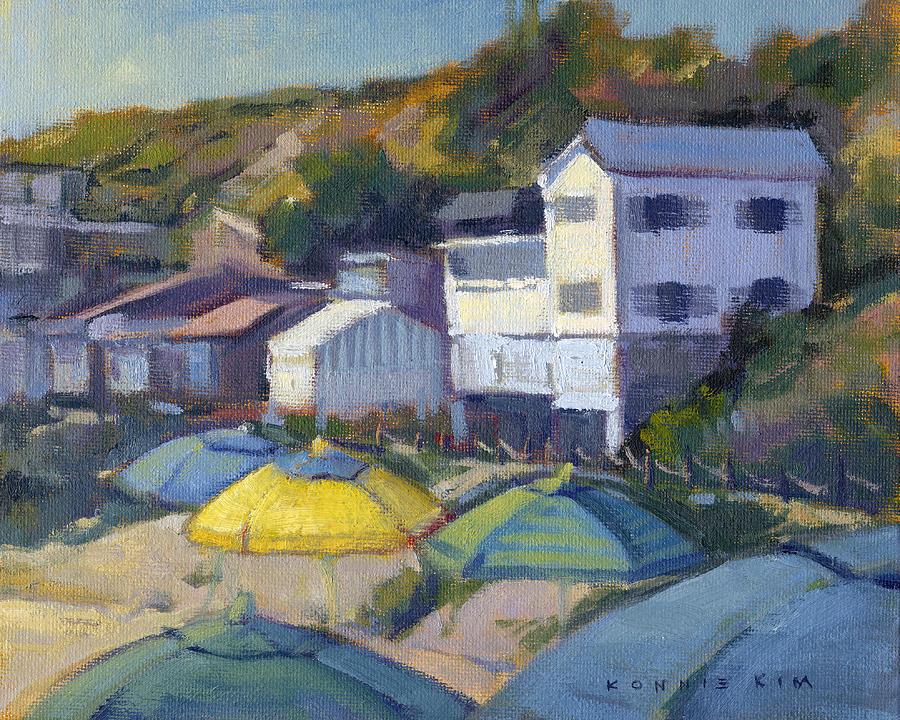 Yellow Umbrella  by Konnie Kim