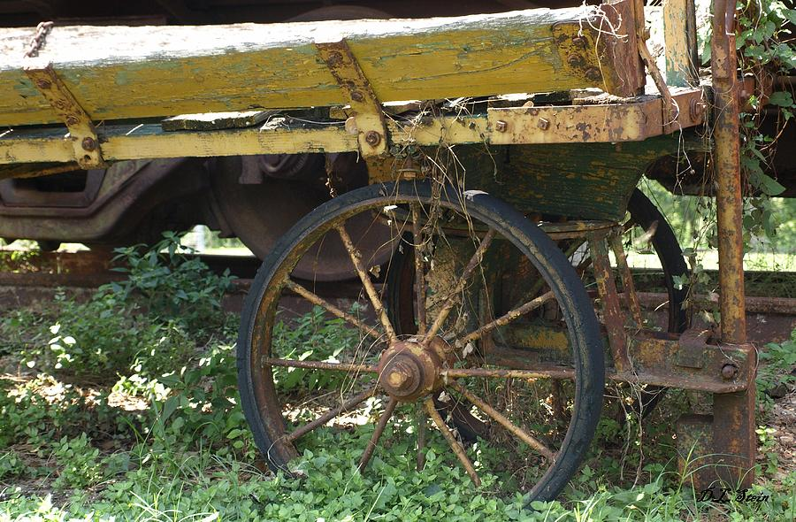 Yellow Photograph - Yellow Wagon by Dennis Stein