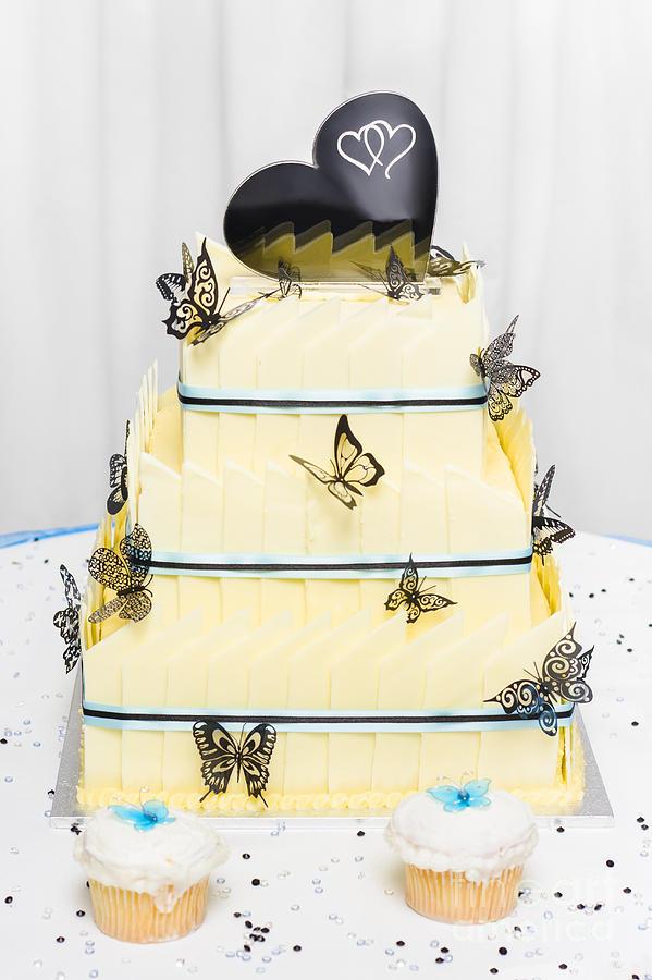 Yellow Wedding Cake Made Of White Chocolate Photograph by Jorgo ...