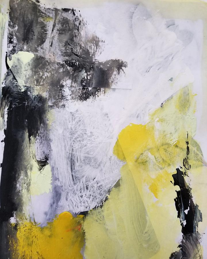 Abstract Painting - Yellow Winter  by Patricia Byron
