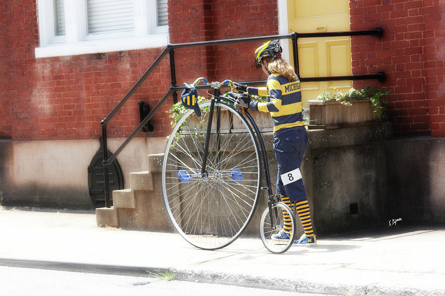Penny-farthing Photograph - Yellows  by Steven Digman