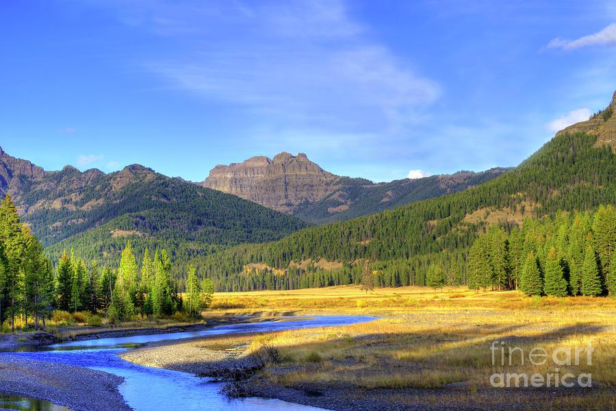 Autumn Photograph - Yellowstone National Park Landscape by Juli Scalzi