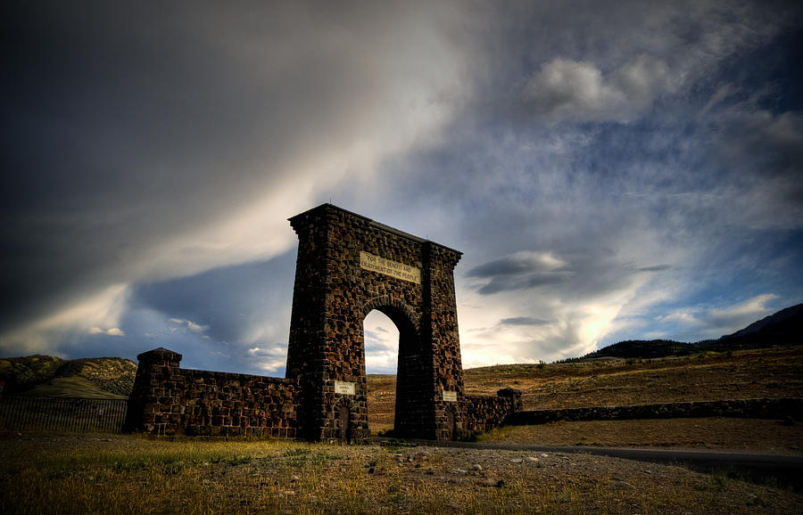 Yellowstone Photograph - Yellowstone North Gate by Patrick  Flynn