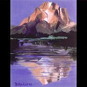 Yellowstone Reflections Painting by Diana Madaras