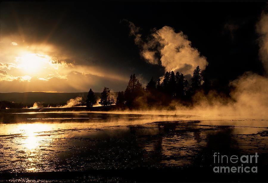 Yellowstone Photograph - Yellowstone River Sunrise by Sandra Bronstein