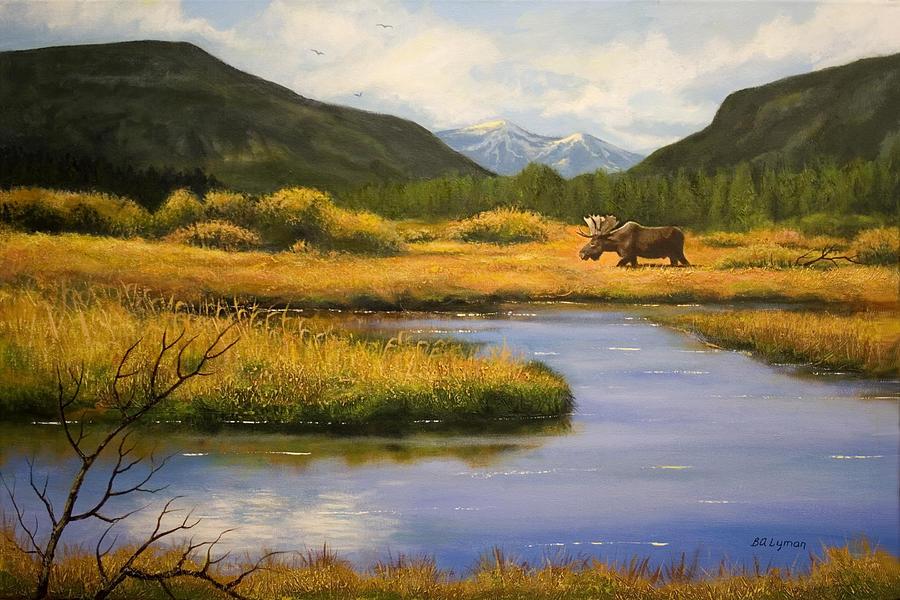 Landscape Painting - Yellowstone Saga by Brooke Lyman
