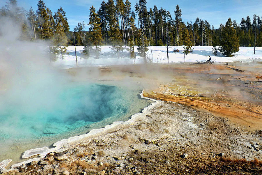 Yellowstone Thermal Pool by C Sitton