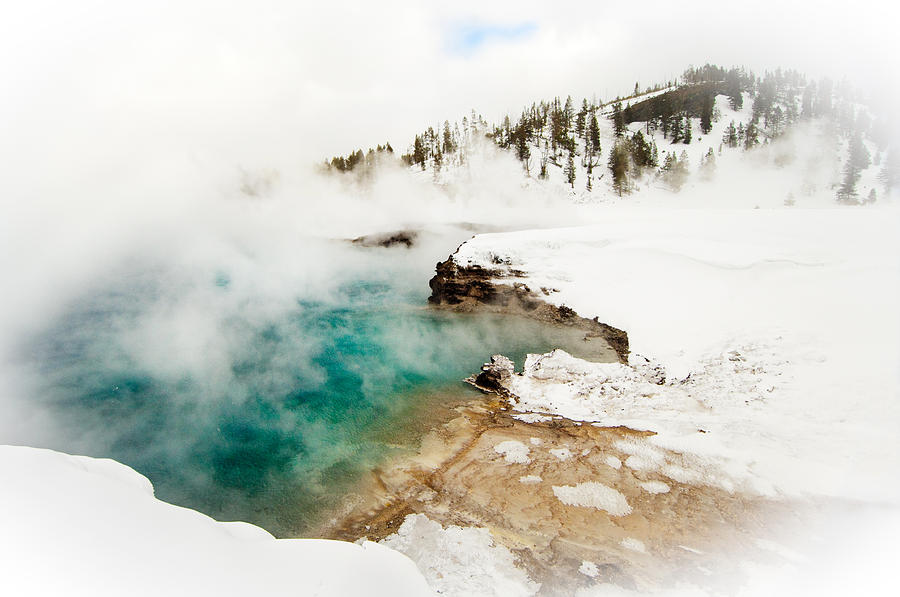 Thermal Photograph - Yellowstone Thermals by Melody Watson