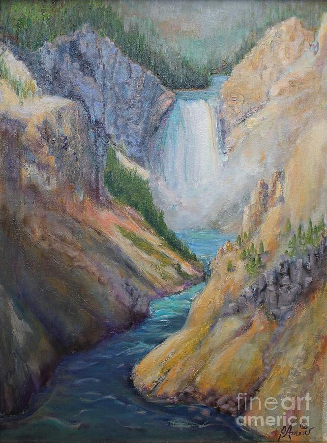 Yellowstone Waterfall by Patricia Amen