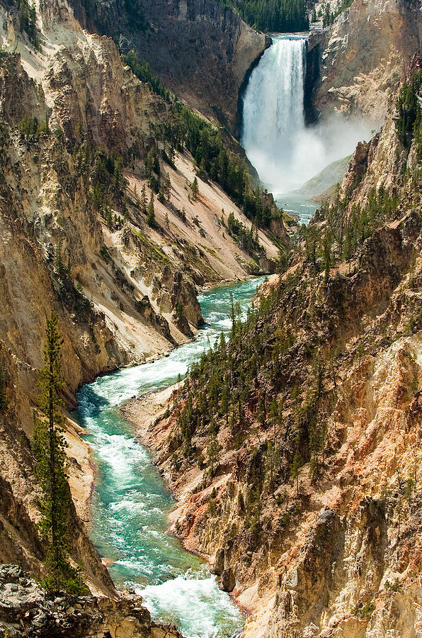 Yellowstone Photograph - Yellowstone Waterfalls by Sebastian Musial