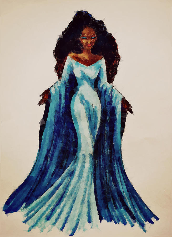 Yemaja Queen Of The Sea Painting By Fredson Santos Silva