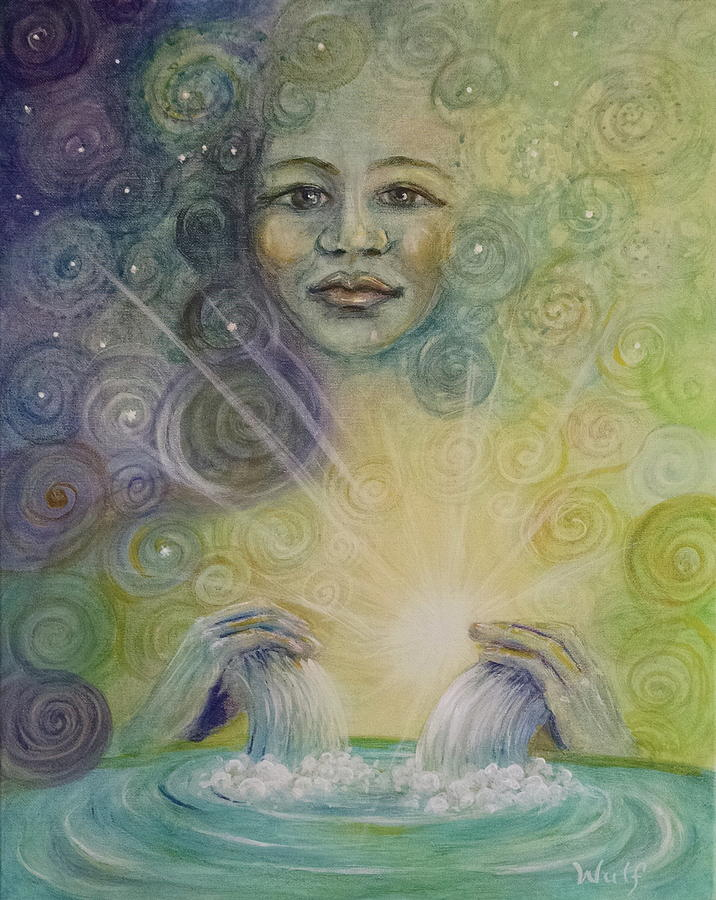 Yemaya - Water Goddess by Bernadette Wulf