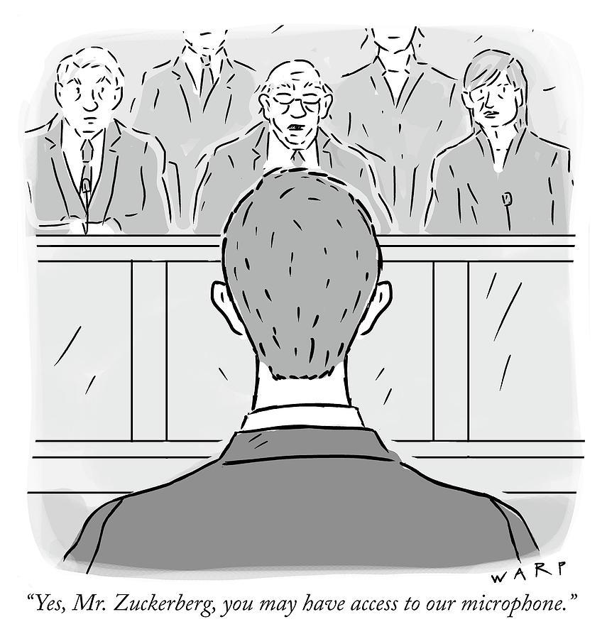 Yes Mr Zuckerberg Drawing by Kim Warp