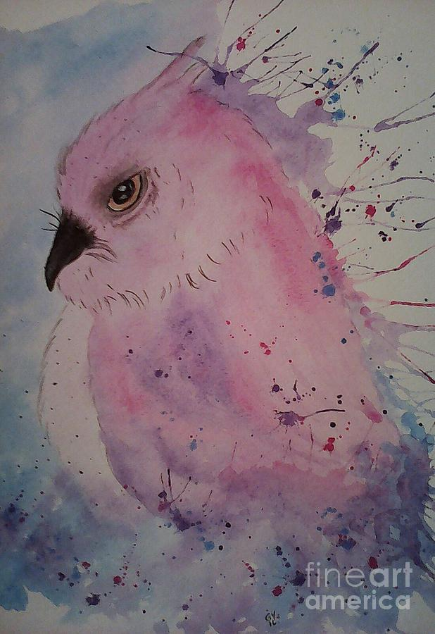 Owl Painting - Yes Seriously by Ginny Youngblood