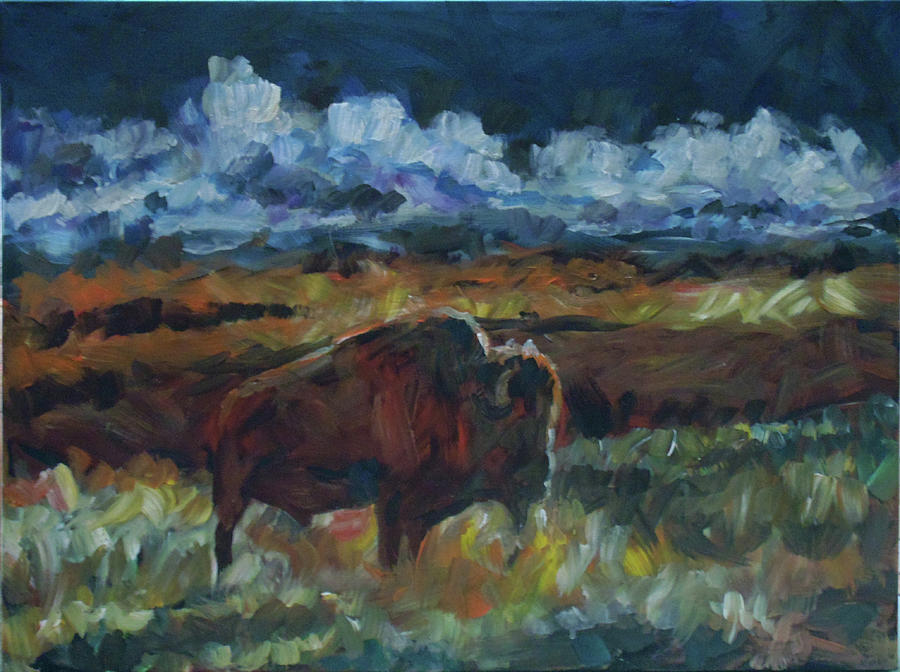 Buffalo Painting - Yesterday by Susan Moore