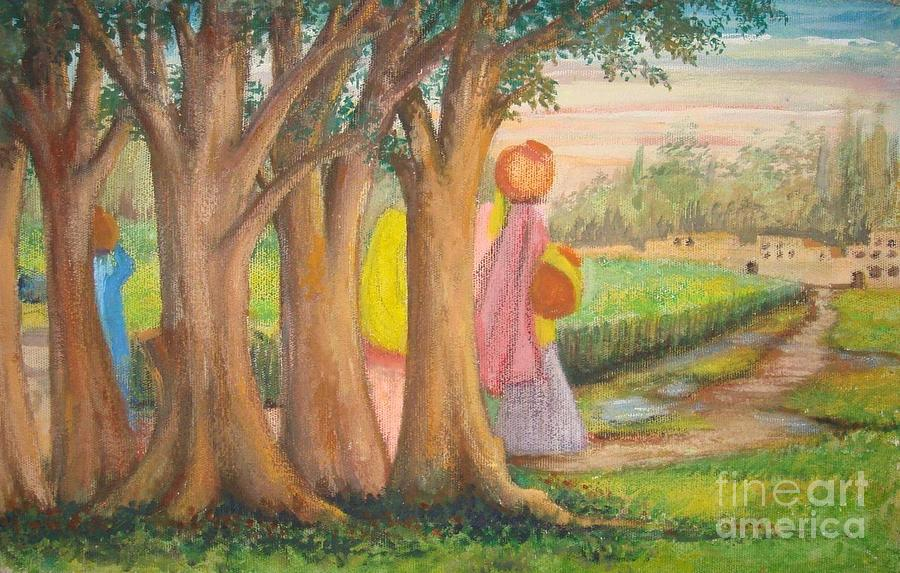 Composition Painting - Yet Another Morning by Naila Saeyed
