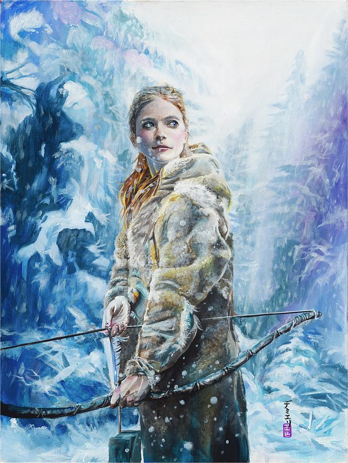 Hbo Painting - Ygritte the Wilding by Baroquen Krafts