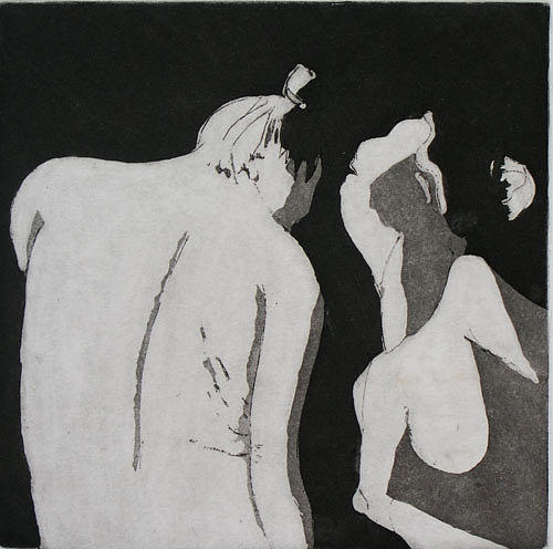 Etching Drawing - Yin And Yang by Brad Wilson
