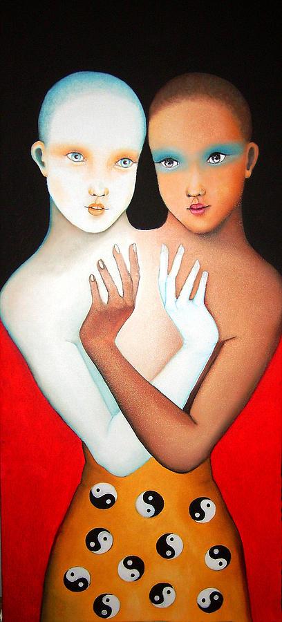 Human Figure Painting - Yin And Yang by Luisa Villavicencio
