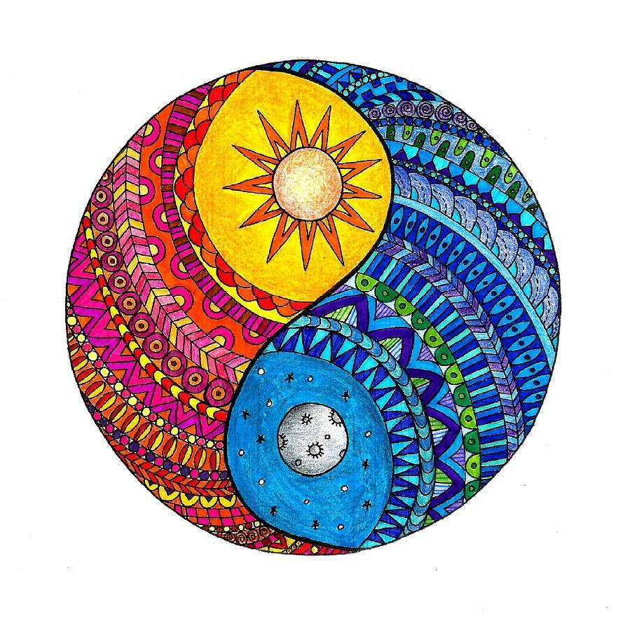 New Yin Yang Mandala Painting by Ketki Fadnis YW17