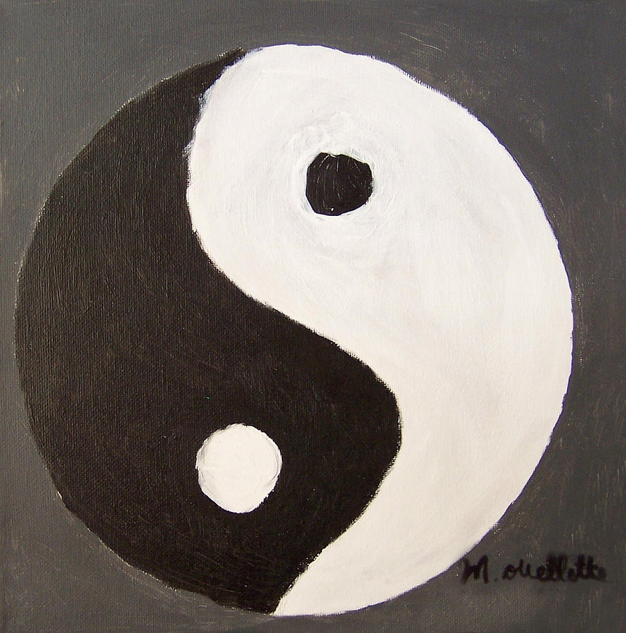 Finest Yin Yang Painting by Mason Ouellette TI77